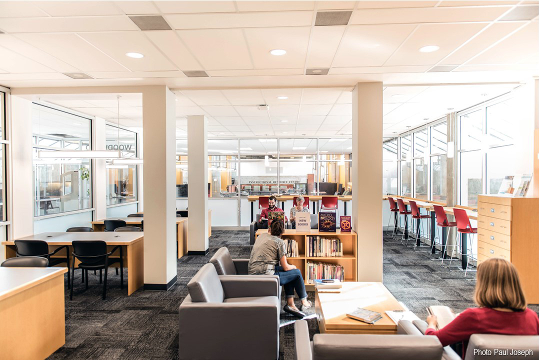 - Woodward Library Entrance and Study Space