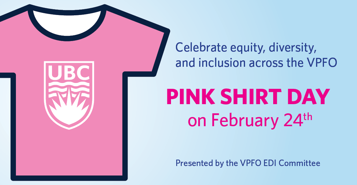 Pink Shirt Day 2021: Celebrate equity, diversity, and inclusion across the VPFO
